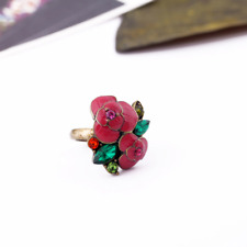 BETSEY JOHNSON Exquisite Cute Retro rose flowers ring BJ N316