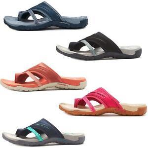 Merrell Terran Post II Women Flip Flops Sandals in Slate Blue & Fuchsia