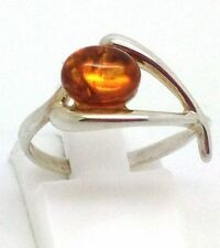 Natural Amber Oval Fine Rings