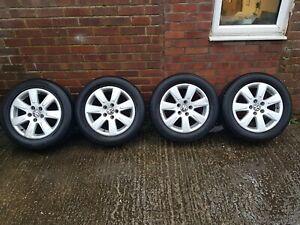 """VOLKSWAGEN PASSAT 2005-2008 4 x 16"""" ALLOY WHEELS 3C0601025A (worn tyre)"""