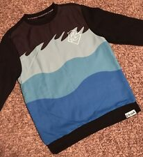 EUC 💯% Authentic Pink Dolphin Sweater/Sweatshirt -Black/Teal/Turquoise Size L