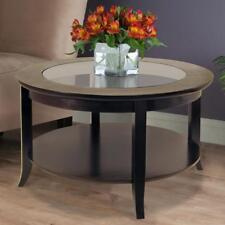 Genoa Espresso Coffee Table w/ Bottom Open Shelf Storage Living Room Furniture