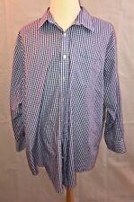 Lands' End Men's Big Long Sleeve Straight Collar Broadcloth Shirt Size 19 X 35
