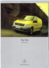Mercedes-Benz Vito Panel Van 2001-03 UK Market Brochure +2 +3 108 110 112 113