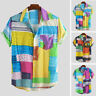 Men Hawaiian Shirt Stag Beach Party Summer Holiday Casual Short Sleeve Fancy Top