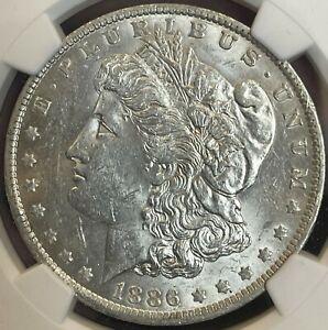 1886-O Morgan Dollar NGC AU 58.  Superb, Attractive Borderline Uncirculate.