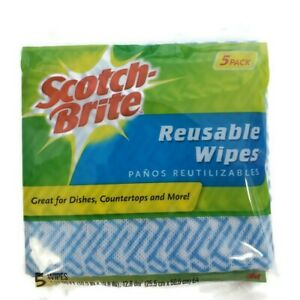 Scotch-Brite Reusable Kitchen Wipes New 5 Pack
