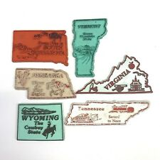 Vintage US Collectable Magnets Nebraska SD TN Vermont Virginia Wyoming Lot of 6