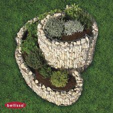 Belissa Gabionen-Kräuterspirale rund 110x90x20-60cm