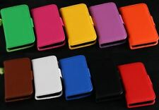 Apple Iphone 5c leather wallet case / 10 colours available / ****Uk Seller****