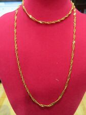 """18 K Solid Yellow gold chain necklace 25"""" 7.5gr"""