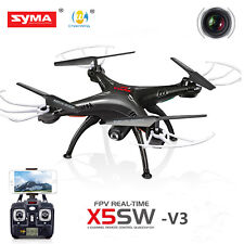 Syma X5SW-V3 Wifi FPV Explorers 2.4G 4CH RC Quadcopter Drone HD Camera UFO Black