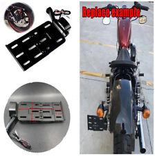 Durable Fold LED Light Side Mount License Plate Bracket For Harley Sportster XL