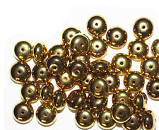6x10mm Rondelle Disc Spacer Goldtone Metalized Metallic Beads