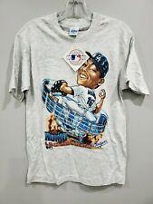 NWT Vintage 90s Salem Los Angeles Dodgers Hideo Nomo Caricature Shirt Youth L