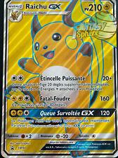 Pokemon Raichu GX SM90 Full Art Soleil et Lune Jumbo Promo 210 PV VF Francais