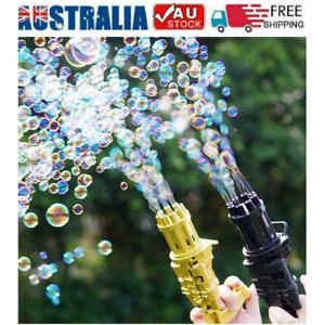 Gatling Bubble Machine Bubbler Maker Safe Cooling Fan Outdoor Kid Gift Summer AU