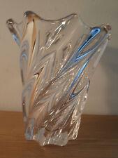 60er 70er Jahre Art Vannes France schwere Design Kristallvase signiert