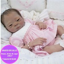 Reborn baby doll asian kit when finished by you, vinyl parts  FREE GIFT Kameko