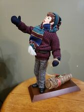 Simpich Character Doll Caroler 1994 Series Boy with Yule Log