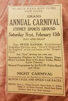 NSW Police Grand Annual Carnival 1941 Advertisement