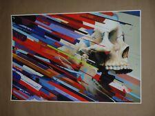 Erik Jones Air Candy Shards signed art print poster Galeena Dipped Skull