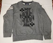 Mens Sweater Sz.M Ecko Unlimited Las Vegas Casino Gambler Skull Count Your Cards