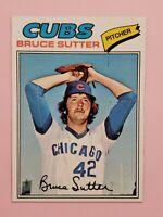 1977 Topps #144 Bruce Sutter Chicago Cubs Rookie Baseball Card NM HOF