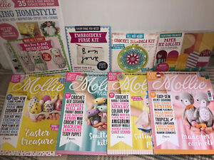 Mollie Makes Magazine Bundle x4 64 78 92 93 With Gifts Handmade Craft Sewing