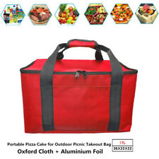Waterproof Food Delivery Bag Red Insulated Thermal Picnic Storage Holder Durable