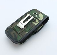 NEW Rugged Canvas Cover Side Belt Holster Clip fit with Hard/Silicone Case on it