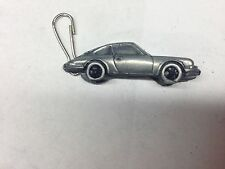 Porsche 911 ref186 pewter effect car emblem on a zip puller
