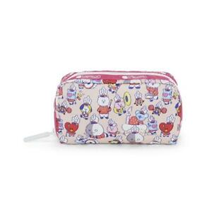 LeSportsac BTS Collection Rectangular Cosmetic Make Up Bag in BT21 Multi Acc NWT
