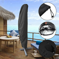 Outdoor Weatherproof Banana Cantilever Patio Parasol Umbrella Protective Cover