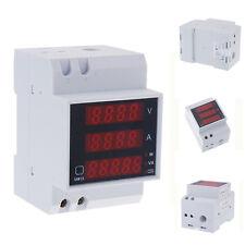 Laboratory Din Rail LED AC Voltmeter Ammeter Volt Amp Meter Gauge 80-300V 0-100A