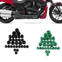 30x Motorcycle Screw Nut Bolt Cap Cover Kit Motorbike Decor for Yamaha Kawasaki