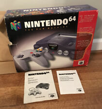 Nintendo 64 Console With Box, Manual, Console, Controller and Hook Ups