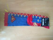 DC Comics SUPERMAN Faux Lace 1 Pair of Women's Knee High Socks Blue Red NEW