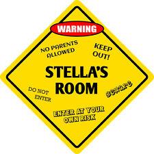 """*Aluminum* Stella's Room Kids Room Door 12""""x12""""  Metal Novelty Sign"""