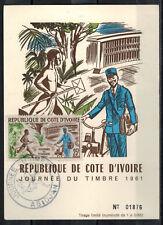 1961 - Cote D'Ivoire - Carte Fdc 1°Jour-Journée du Timbre -Obl.Abidjan-Y/t.199