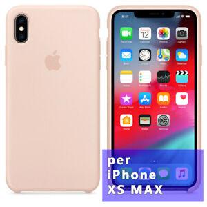 """Custodia cover originale Apple Silicone Case per iPhone XS Max 6.5"""" ROSA SABBIA"""