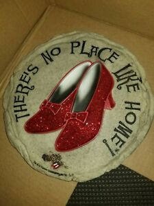 There's No Place Like Home Wizard Of Oz Ruby Slippers Stepping Stone Wall Plaque
