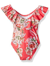NWT SEAFOLLY GIRLS SIZE 1 3 ROSE FLORAL ONE PIECE SUIT