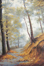 """Forest trail original Ukrainian oil painting by A. Sushko 92x62cm or 36x24"""""""