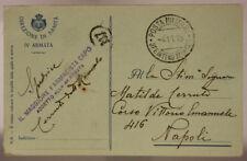 POSTA MILITARE INTENDENZA 4^ ARMATA 4.11.1915 MAGGIORE FARMACISTA CAPO #XP188E