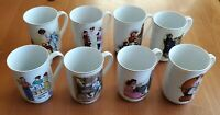 8 Vintage Norman Rockwell & 3 IMM Coffee Cups Mugs 1981-1986