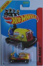 Hot Wheels Bump Around Jaune Nouveau/Neuf dans sa boîte boxauto tamponneuses US-Card Mattel HW Toy