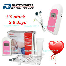 US 3-6days LCD Pocket Fetal Doppler,Baby Heart Beat Monitor Baby sound B Gel