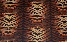 FLEECE FLANNEL TIGER STRIPE ORANGE BLACK ANIMAL CRAFT MULTIUSE FABRIC BY YARD