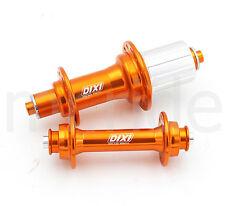 Dixi Road bike Hub set Front 20H, Rear 24H 10 speed For shimano sram Orange